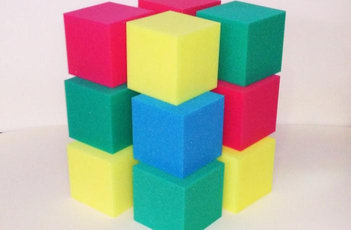 Поролоновые кубики для